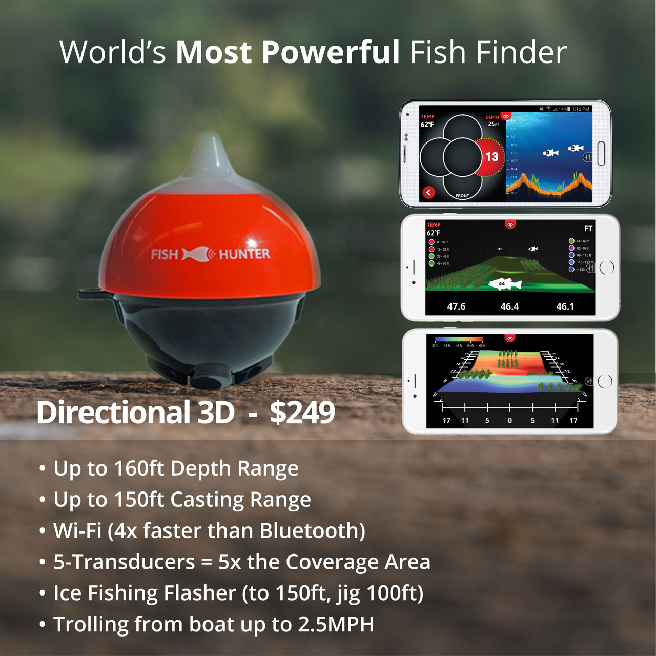 FishHunter™ Directional 3D - with border